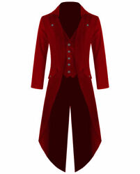 Menand039s Cotton Twill Steampunk Tailcoat Jacket Goth Victorian Coat/trench