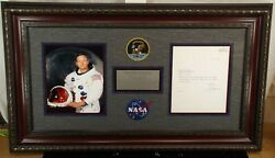 Neil Armstrong Signed Stunning Framed Typed Letter Signed Zarelli Authenticated