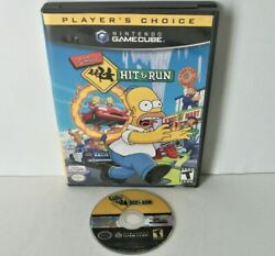 The Simpsons Hit And Run Nintendo Gamecube Game Disc Case Gta-like Driving Cube