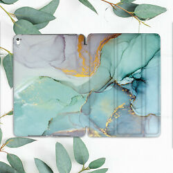 Turquoise Green Gold Marble Case For Ipad Pro 12.9 11 10.5 10.2 9.7 Air Mini 3 2