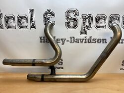 Genuine Harley-davidson Exhaust Header Pipe Assembly Breakout Fatboy 65600259