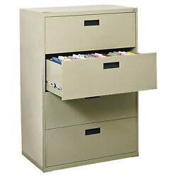 Sandusky Steel Lateral File Cabinet with Plastic Handle 2 Drawers E204L-09