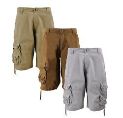 MSLM Men#x27;s Army Military Relaxed Fit Cotton Cargo Pocket Shorts $22.95