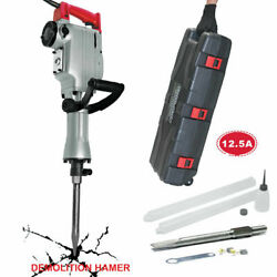 Toolman Electric Demolition Hammer For Heavy Duty 12.5a With Point, Flat Shovel