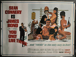 YOU ONLY LIVE TWICE 1967 ORIG 59X45 2-SHEET MOVIE POSTER SEAN CONNERY