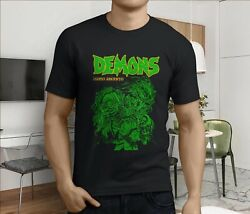 New Demons Classic Dario Argento 80039s Horror Menand039s Black T-shirt Size S-3xl