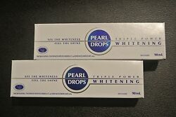Pearl Drops Triple Power Whitening Toothpaste 90ml X 2 - Brand New Sealed