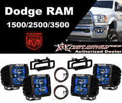 Rigid Radiance Pod Blue And Fog Light Kit And Harness For 2010-2015 Ram 2500/3500