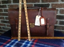 Rare Vintage 1930and039s Chinese Trunk Co Baseball Glove Leather Briefcase Bag R1898