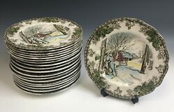 Lot Of 19 Johnson Brothers The Friendly Village England Bread And Butter Plates