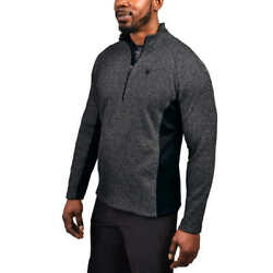 Spyder Menand039s Major Cable 1/4 Zip Mid Weight Stryke Sweater Jacket