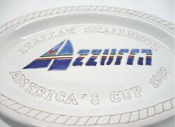 ART.00468 - ITALIAN  PLATE CHALLENGE AMERICA'S CUP 1983 AMERICA CUP - OVAL YACHT