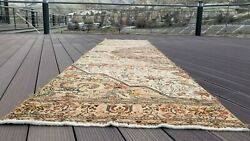 Beautiful 1930-1939and039s Antique Wool Pilenatural Dye Runner Rug 2and03910andtimes11and0395and039and039