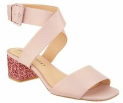 Katy Perry The Margot Pearlized Metallic Pink With Glitter Heel Size 7.5 M
