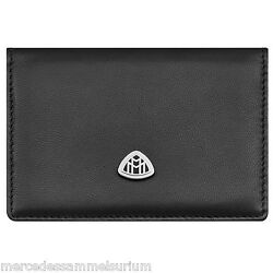 Mercedes Benz Maybach Genuine Business Cards Case Lamb Leather Nip Black New