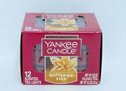 Yankee Candle GLITTERING STAR Scented Tea Light Candles Box of 12