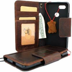 Google Pixel 3 Wallet Case Genuine Leather Card Slots Stand Cover Vintage Brown