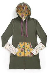 Matilda Jane PATCHES OF LIGHT HOODIE Medium Zip Jacket Choose Your Own Path NWT