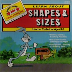 Looney Tunes Learn About Shapes And Sizes Ages 3-7 Book And Audio Cassette