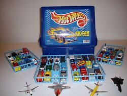 Hot Wheels Die Cast Cars Trucks Airplanes And Carry Case