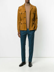 New $2400 Paul Smith Men's Tan Suede Leather Field Jacket Made in Italy Sz L