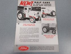 Ford Half Cabs For Ford And Fordson Tractors Sales Sheet 1955   Lw