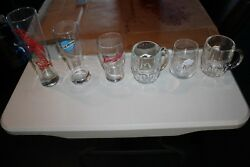 Chicago Bears Nfl Promotional Drinking Glasses - New - Free Shipping