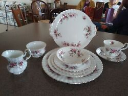 Royal Albert Lavender Rose 5 Piece Setting For 10. Made In England.