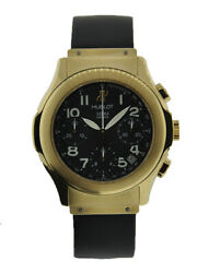 HUBLOT MDM CHRONOGRAPH 18KT YELLOW GOLD WITH BLACK ARABIC DIAL ON BLACK RUBBE...