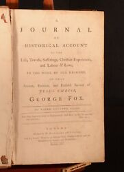 1765 A Journal Historical Account Of The Life Travels Fox Quaker North America