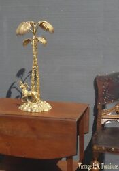 Vintage Mappin Brothers Of London Table Top Decor Palm Trees W A Antelope Statue