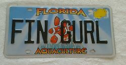 Florida Vanity License Plate with Clownfish on Aquaculture Background