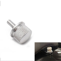 Silver Motorcycle Seat Screw Cover Bolt Billet For Harley Sportster Street Glide