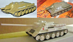 1/72 Su-85 or -100 or -122 Soviet Tank WWII Die Cast model & Magazine Russian