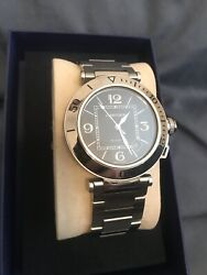 Pasha Seatimer Black Dial Date All Ss Menandrsquos Auto Watch