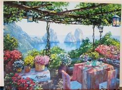 Howard Behrens Table For Two-capri Waterfront Cafe Very Embell. List 3750 Hs