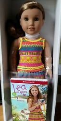 American Girl Lea Clark Doll Brand New w Book Messenger Bag & Compass Necklace