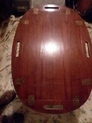 Vintage Illums Bolighus- Brass/ Rosewood Butler's Tray Coffee Table. 60s.