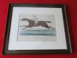 Vintage Original Hand Colored 1881 Currier And Ives Print Foxhall
