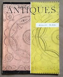 Rare Antiques Magazine From January 1960 Vol. Lxxvii, No. 1 Collector's Guide