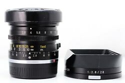 Leica 28mm F2.8 Elmarit V.2 11801 Canada Used In Good Conditions With Lens Hood