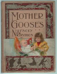 Mother Goose Nursery Rhymes Mcloughlin Brothers Antique Children's Book C.1915