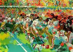 Leroy Neiman Silverdome Superbowl Hand Signed And Numbered Serigraph Football Art