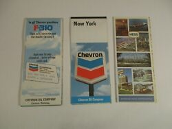 Lot Of 3 Vintage Hess And Chevron New York Gas Station Travel Road Mapsbox L7