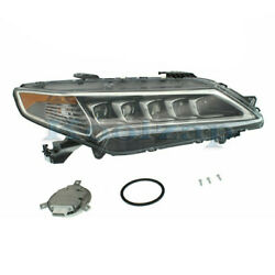 For 15-17 Tlx Front Headlight Headlamp Led Head Light Lamp With Bulbs Right Side