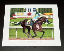 Nick Martinez - American Pharaoh - Preakness - Collectible Race Horse Print