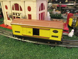 Lionel Pre War 814 Yellow And Brown Box Car Exc Cond Part Repaint 1926-42