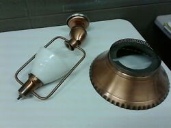 Vintage Thomas Industries Copper Swag Lamp Hanging Light Chandelier 13 Shade
