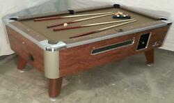 Valley 7and039 Coin-op Pool Table Model Zd-5 In Taupe Also Avail In 6 1/2and039 An 8and039