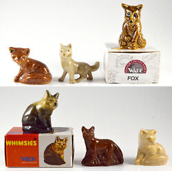 Wade 6 Foxes, Whimises. Red Rose Tea. Tom Smith Party Crackers, 1955-2004